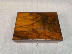 Neoclassical Biedermeier Casket Box Walnut Veneer South Germany circa 1830 - 1808487