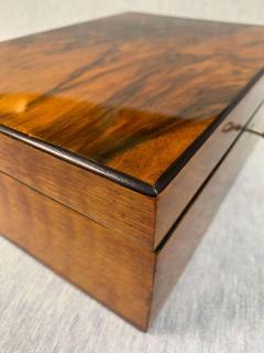 Neoclassical Biedermeier Casket Box Walnut Veneer South Germany circa 1830 - 1808489