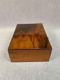Neoclassical Biedermeier Casket Box Walnut Veneer South Germany circa 1830 - 1808490