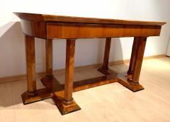Neoclassical Biedermeier Desk Cherry Veneer Six Columns Austria circa 1830 - 2129636