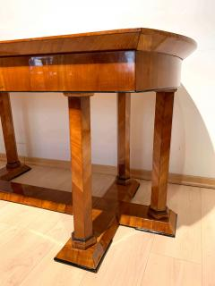 Neoclassical Biedermeier Desk Cherry Veneer Six Columns Austria circa 1830 - 2129637