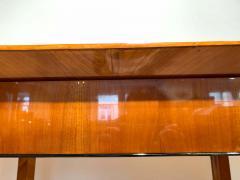 Neoclassical Biedermeier Desk Cherry Veneer Six Columns Austria circa 1830 - 2129647