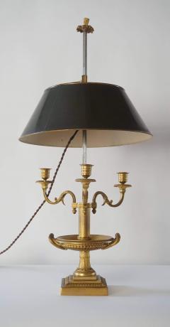 Neoclassical Bronze Bouillotte Lamp - 887196