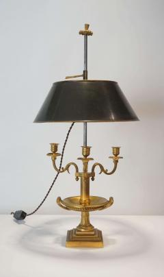 Neoclassical Bronze Bouillotte Lamp - 887200
