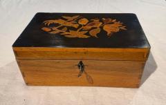 Neoclassical Casket Box Walnut Ebony Colored Inlays South Germany circa 1840 - 1612390