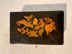 Neoclassical Casket Box Walnut Ebony Colored Inlays South Germany circa 1840 - 1612391