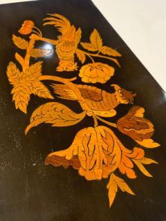 Neoclassical Casket Box Walnut Ebony Colored Inlays South Germany circa 1840 - 1612395