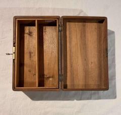 Neoclassical Casket Box Walnut Ebony Colored Inlays South Germany circa 1840 - 1612403