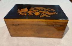 Neoclassical Casket Box Walnut Ebony Colored Inlays South Germany circa 1840 - 1612410