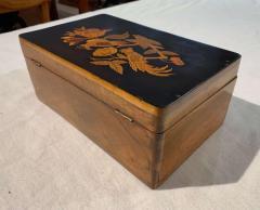 Neoclassical Casket Box Walnut Ebony Colored Inlays South Germany circa 1840 - 1612413