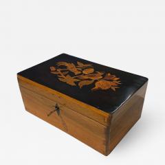 Neoclassical Casket Box Walnut Ebony Colored Inlays South Germany circa 1840 - 1614856