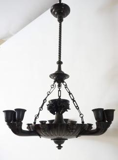 Neoclassical English Regency Bronze Chandelier - 1156412
