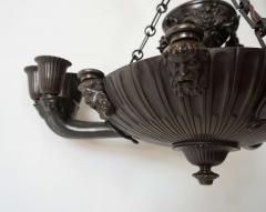 Neoclassical English Regency Bronze Chandelier - 1156413