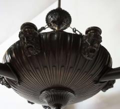 Neoclassical English Regency Bronze Chandelier - 1156414