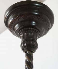 Neoclassical English Regency Bronze Chandelier - 1156415