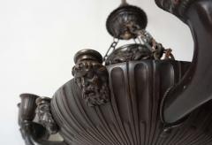 Neoclassical English Regency Bronze Chandelier - 1156419