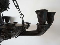 Neoclassical English Regency Bronze Chandelier - 1156421