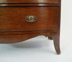 Neoclassical English Regency Inlaid Mahogany Chest of Drawers - 1578301