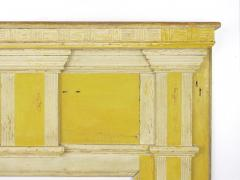 Neoclassical Federal Antique Fireplace Surround Mantel in Yellow White Paint - 998537