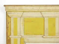 Neoclassical Federal Antique Fireplace Surround Mantel in Yellow White Paint - 998539