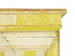 Neoclassical Federal Antique Fireplace Surround Mantel in Yellow White Paint - 998541
