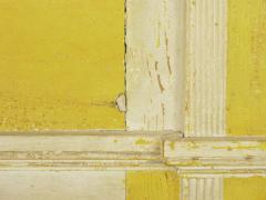 Neoclassical Federal Antique Fireplace Surround Mantel in Yellow White Paint - 998542