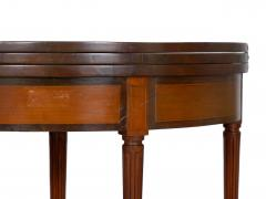Neoclassical Fruitwood Card Table w Triple Top 19th Century - 1159308