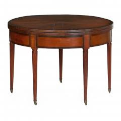 Neoclassical Fruitwood Card Table w Triple Top 19th Century - 1159309