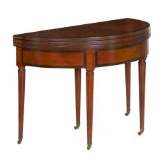 Neoclassical Fruitwood Card Table w Triple Top 19th Century - 1159311