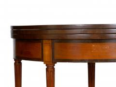 Neoclassical Fruitwood Card Table w Triple Top 19th Century - 1159312
