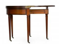 Neoclassical Fruitwood Card Table w Triple Top 19th Century - 1159313