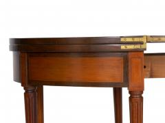 Neoclassical Fruitwood Card Table w Triple Top 19th Century - 1159314