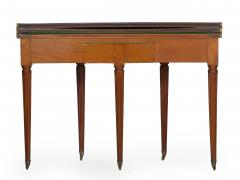 Neoclassical Fruitwood Card Table w Triple Top 19th Century - 1159317