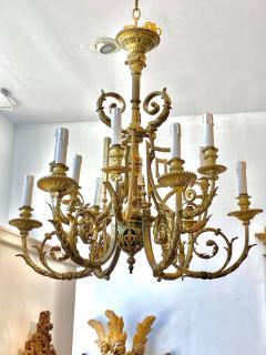Neoclassical Gilt Bronze Chandelier Circa 1850 - 1786072