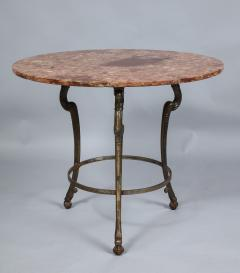 Neoclassical Iron and Marble Table - 742597