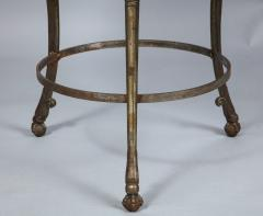 Neoclassical Iron and Marble Table - 742598