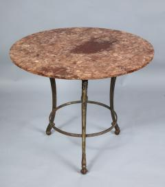 Neoclassical Iron and Marble Table - 742599