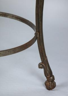 Neoclassical Iron and Marble Table - 742600