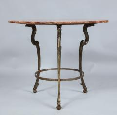 Neoclassical Iron and Marble Table - 742601