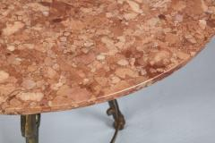Neoclassical Iron and Marble Table - 742602