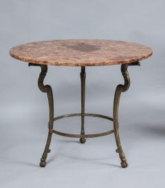 Neoclassical Iron and Marble Table - 742603