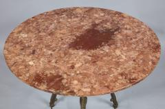 Neoclassical Iron and Marble Table - 742605