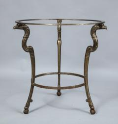 Neoclassical Iron and Marble Table - 742606