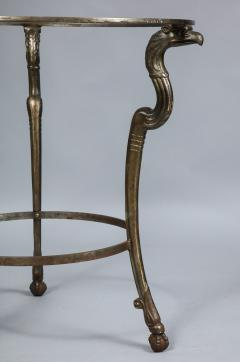Neoclassical Iron and Marble Table - 742607