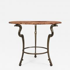 Neoclassical Iron and Marble Table - 743079