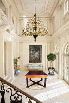 Neoclassical Italian Center Table with Imperial Porphyry Marble Tabletop - 1774870