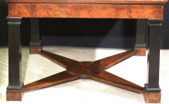 Neoclassical Italian Center Table with Imperial Porphyry Marble Tabletop - 1774873