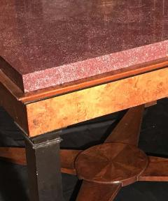 Neoclassical Italian Center Table with Imperial Porphyry Marble Tabletop - 1774874