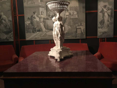 Neoclassical Italian Center Table with Imperial Porphyry Marble Tabletop - 1774877