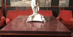Neoclassical Italian Center Table with Imperial Porphyry Marble Tabletop - 1774880